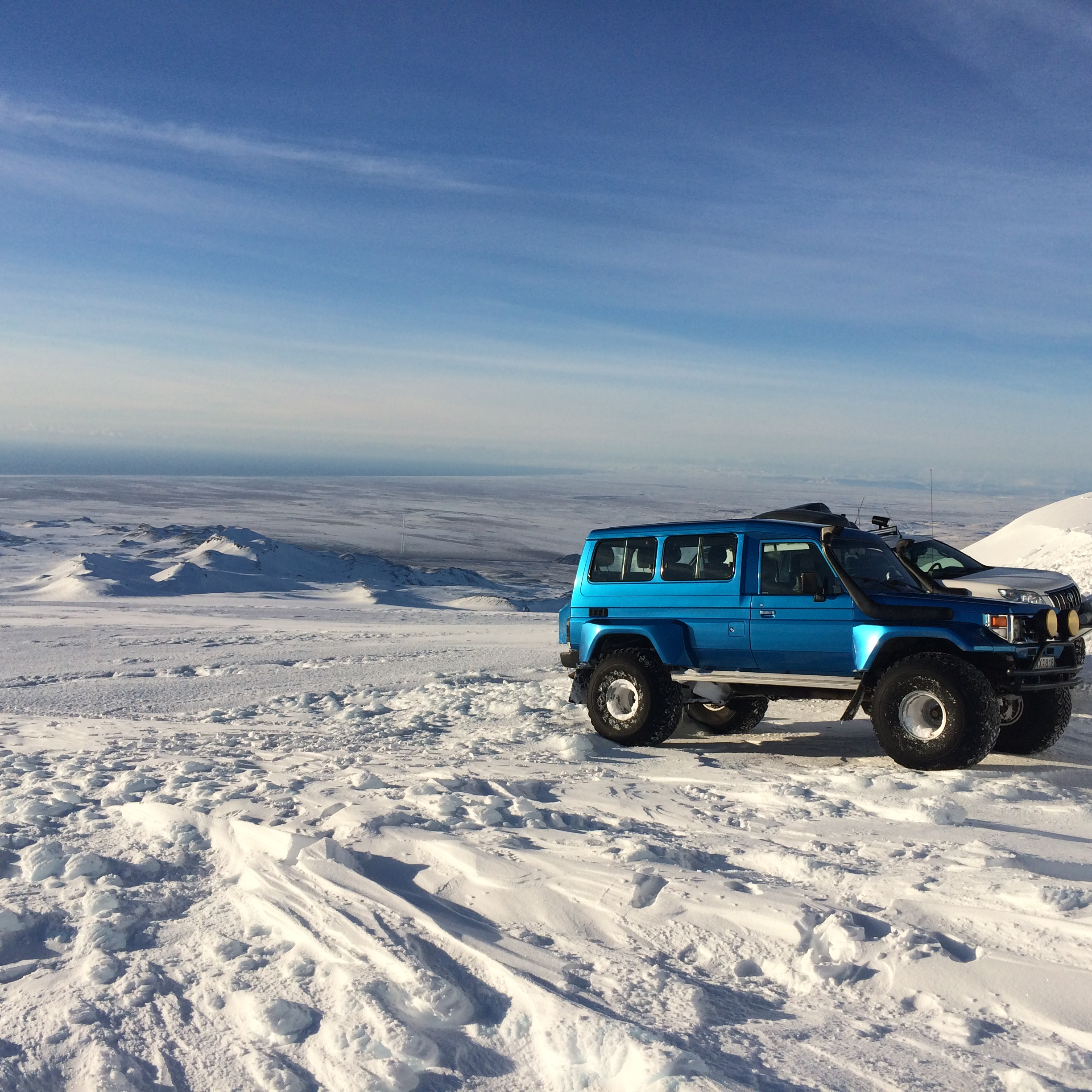 Superjeep on a glacier
