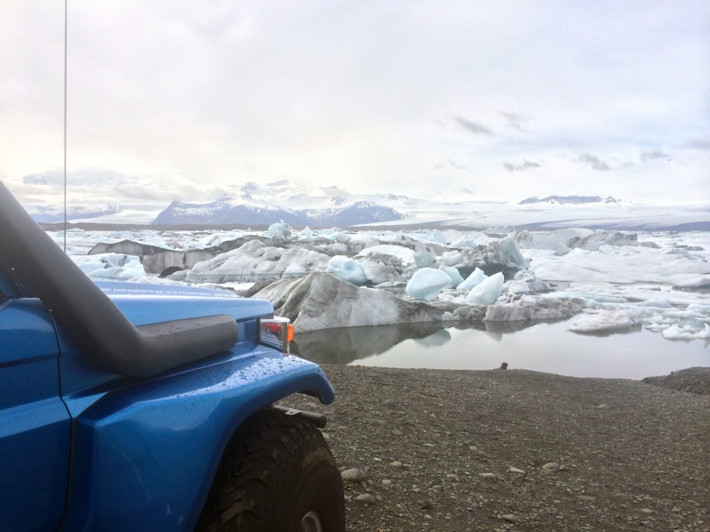Iceland in a day at the glacier lagoon